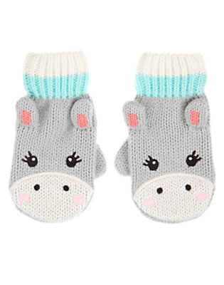 Pink Carnation Happy Hippo Mittens by Gymboree