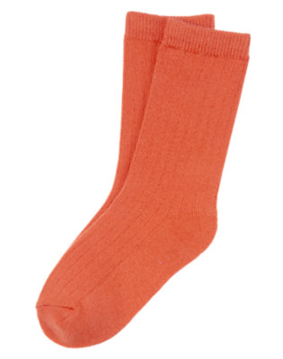 Boys Orange Zap Crew Sock by Gymboree