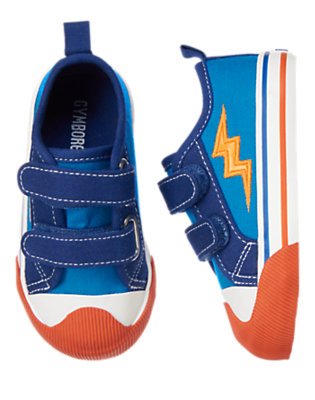 Toddler Boys Blue Bolt Zap! Sneakers by Gymboree