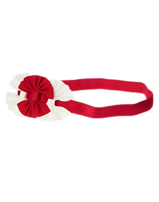 Toddler Girls Valentine Red Bow Fruffle by Gymboree