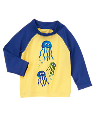 Toddler Boys Sunshine Jellyfish Rash Guard by Gymboree