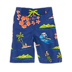 Hawaiian Swim Trunk