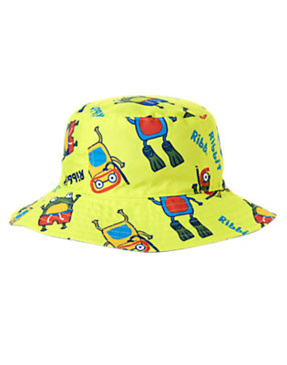 Toddler Boys Lime Lilypad Scuba Frog Reversible Bucket Hat by Gymboree