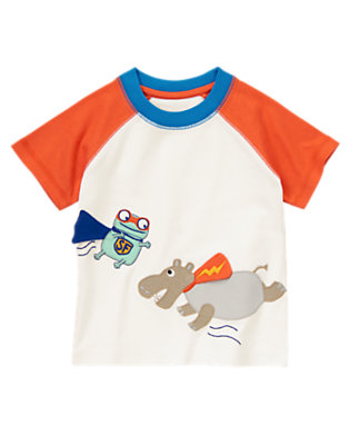 Orange Zap Flying Super Critters Short Sleeve Tee by Gymboree