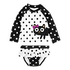 Kitty Dot Rash Guard Set