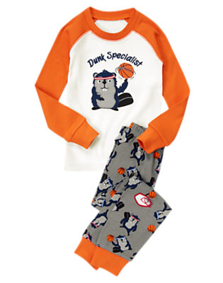 Toddler Boys Sporty Gray Dunk Specialist Two-Piece Gymmies® by Gymboree