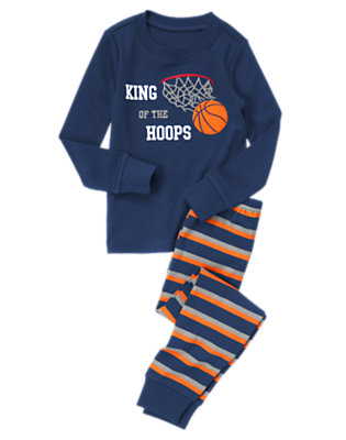 Bouncy Blue King Of The Hoops Two-Piece Gymmies® by Gymboree