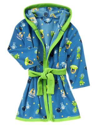 Toddler Boys Beeep Blue Aliens Fleece Robe by Gymboree