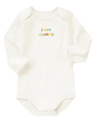 Baby Cream I love Mommy Bodysuit by Gymboree