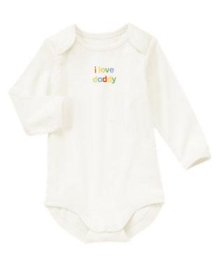 Baby Cream I Love Daddy Bodysuit by Gymboree