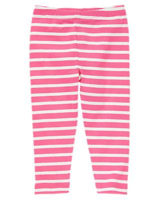 Toddler Girls Spring Rose Stripe Striped Leggings by Gymboree