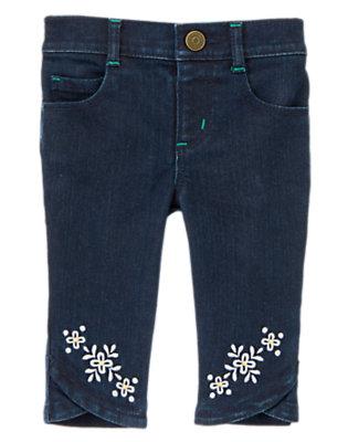 Toddler Girls Denim Clover HemCropped Jean by Gymboree