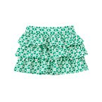 Clover Print Ruffle Skirt
