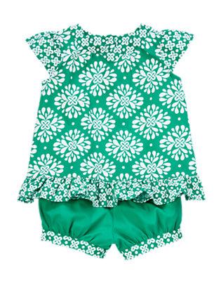Toddler Girls Emerald Clover Print Clover Print Set by Gymboree