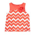 Chevron Flower Top