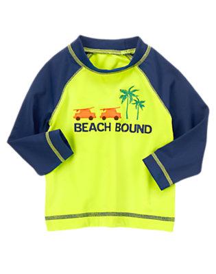 Toddler Boys Palm Leaf Beach Bound Rash Guard by Gymboree