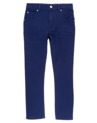 Boys Deep Blue Sea Colored Stretch Jeans by Gymboree