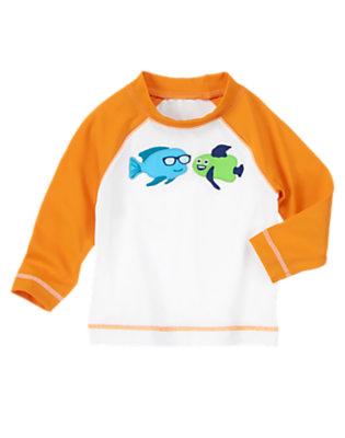 Toddler Boys Whitecap Funny Fish Rash Guard by Gymboree