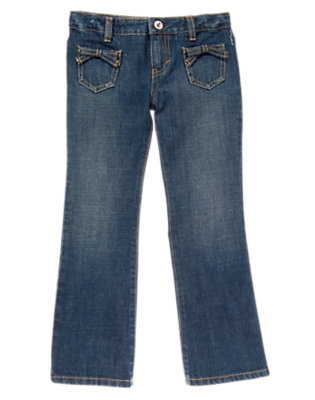 Girls Denim Bootcut and Bow Jeans by Gymboree