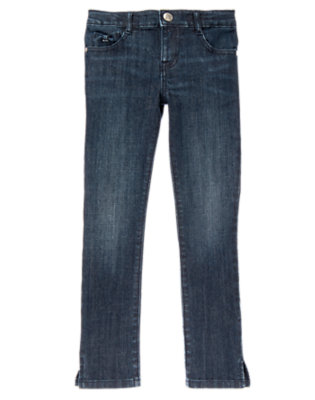 Girls Dark Denim Skinny Jeans by Gymboree