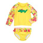 Floral Gator Rash Guard Set