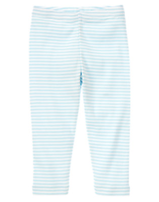 Toddler Girls Sky Blue Stripe Soft Stripe Legging by Gymboree