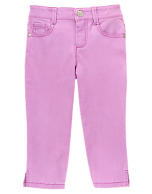 Girls Neon Purple Neon Capri Pants by Gymboree