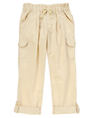Girls Sandy Beach Cargo Roll Up Pants by Gymboree