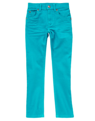 Boys Tidal Teal Colored Stretch Jeans by Gymboree