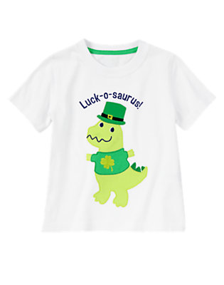 Toddler Boys Ivory Luck-o-saurus! Tee by Gymboree