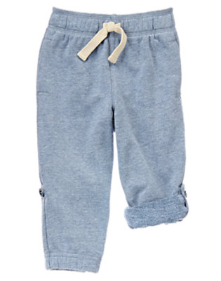 Toddler Boys Deep Blue Sea Roll-Up Knit Pants by Gymboree