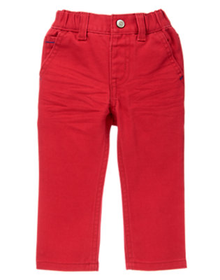 Toddler Boys Jolly Roger Red Pull-On Colored Jeans by Gymboree