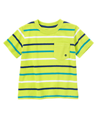 Lime Green Stripe Always Soft™ Striped Tee by Gymboree
