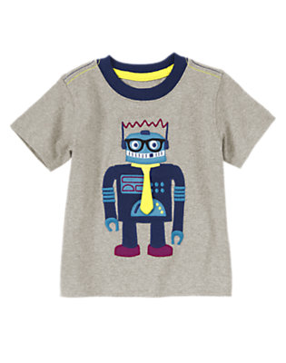 Robo Grey Fancy Robot Tee by Gymboree