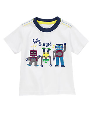 Ivory Fully Charged Tee by Gymboree