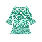 Allover Clover Ruffle Tunic
