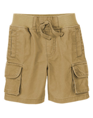 Toddler Boys Khaki Ribbed Waist Cargo Shorts by Gymboree