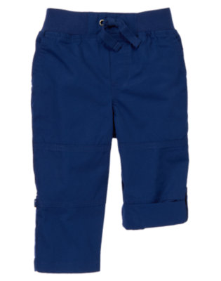 Toddler Boys Classic Navy Roll-up Pants by Gymboree