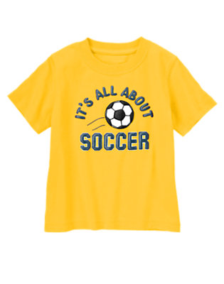 Toddler Boys Sunny Day It's All About Soccer Tee by Gymboree