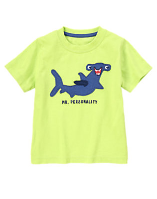 Toddler Boys Lime Green Mr. Personality Tee by Gymboree