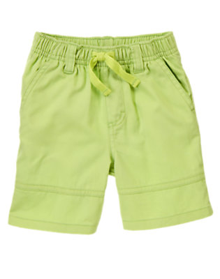 Toddler Boys Lime Green Twill Shorts by Gymboree