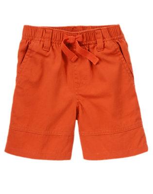 Toddler Boys Burnt Orange Twill Shorts by Gymboree