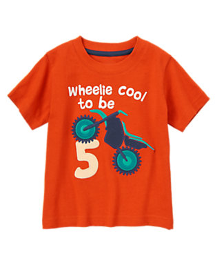 Toddler Boys Red Bow Wheelie Cool to be 5 Tee by Gymboree