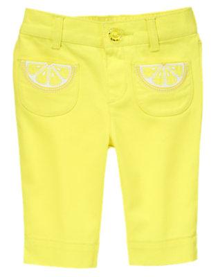 Toddler Girls Sweet Lemon Lemon Slice Pant by Gymboree