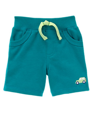 The Real Teal Knit Car Short by Gymboree
