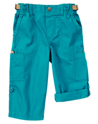 Toddler Boys The Real Teal Roll-up Cargo Pant by Gymboree