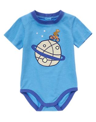 Toddler Boys Astro Blue Astro Monkey Bodysuit/Tee by Gymboree
