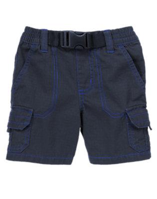 Toddler Boys Dark Navy Ripstop Cargo Shorts by Gymboree