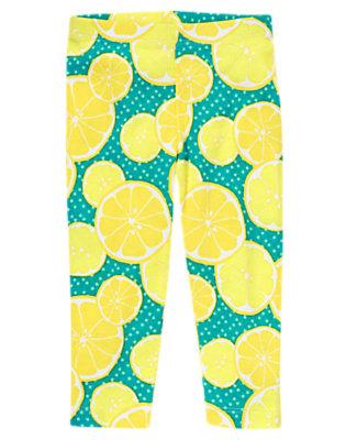 Toddler Girls Lemon Print Knit Legging by Gymboree