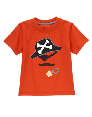 Toddler Boys Chili Red Pirate Tee by Gymboree